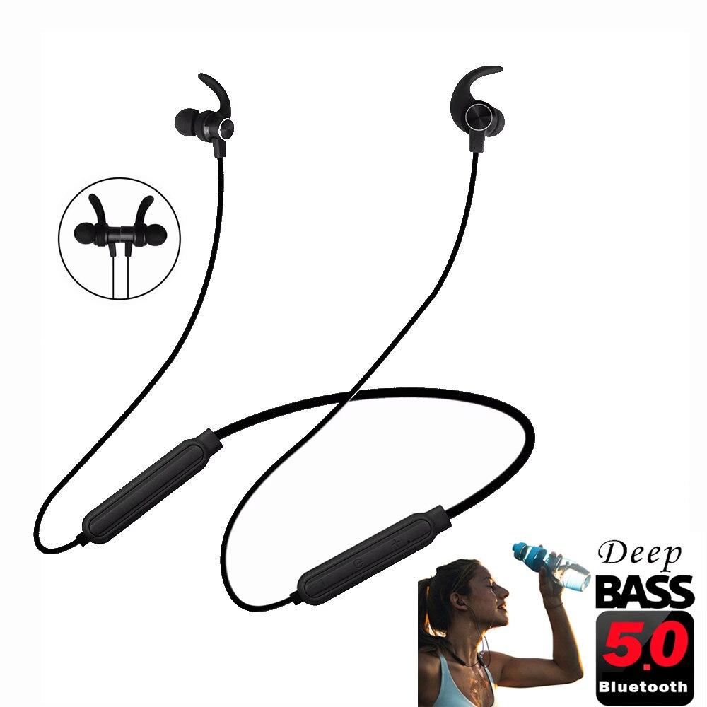 PunnkFunnk Bluetooth ecouteurs sans fil cou casque Bluetooth 5.0 magnétique basse stéréo casques auriculares fone de ouvido