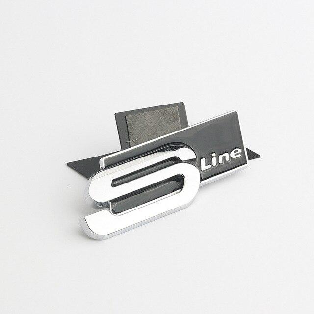 Metal Car Accessories Sticker Emblem Decal for Audi SLine Logo A3 A4 A5 A6 A7 A8 S3 S4 S5 S6 S7 S8 Q3 Q5 Q7 Exterior Decoration 5