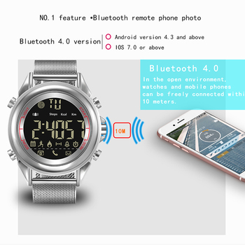 smart watch men sport stainless steel digital smartwatch android  Message call Reminder with camera bluetooth relogio masculino