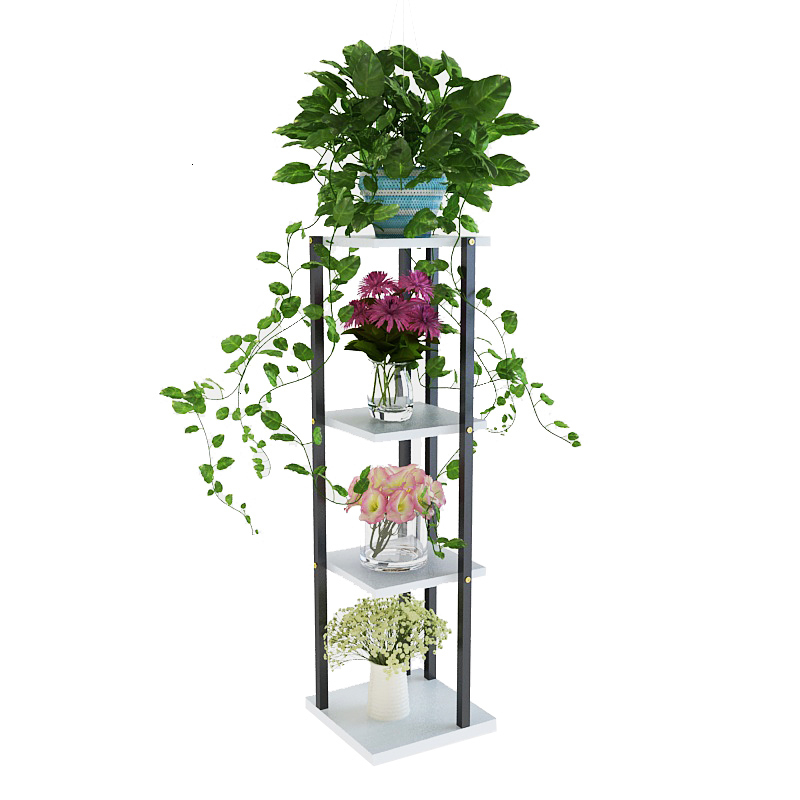 Airs Indoor A Living Room Indoor Steel Wood Corner Flower Rack Discharge Flowerpot Of Green Luo Botany Multi-storey Frame