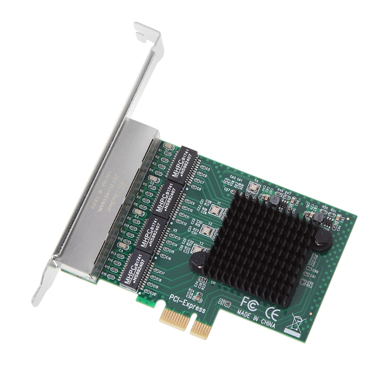 PCIe PCI Express 10/100/1000M to 4 Port 4x Gigabit Card Ethernet Network Adapter 2