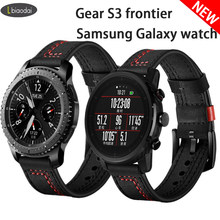 Correa de reloj 22mm para Samsung Galaxy reloj de 3/equipo S3 frontera banda amazfit pace/gtr 47mm de cuero pulsera HUAWEI Gt 2-2e-pro 46mm