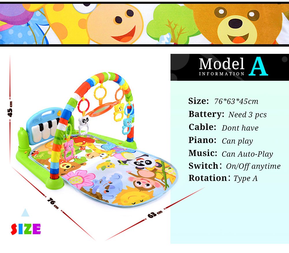 H936c727775c24399895c79c41214284bj 16 Styles Baby Music Rack Play Mat Kid Rug Puzzle Carpet Piano Keyboard Infant Playmat Early Education Gym Crawling Game Pad Toy