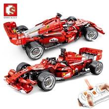 SEMBO-bloques de construcción de automóviles de carreras con Control remoto, Creator Expert RC, vehículo, bloques de construcción, modelo, regalos juguetes para niños