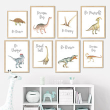 Nursery Education Cartoon Jurassic Dinosaur Wall Art Canvas Painting Nordic Posters And Prints Decoration Pictures Kids Bedroom