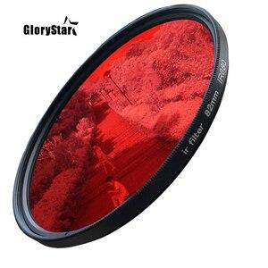 Image 2 - GloryStar 52 82mm Ir680 Ir720 Ir760 Ir850 Ir950 na podczerwień na podczerwień Ir filtr 720nm zabawy fotografii artystycznej kamera filtr obiektywu