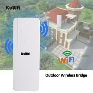 Image 5 - KuWFi في الهواء الطلق CPE راوتر موسع واي فاي كوالكوم 9531 سرعة تصل إلى 300Mbps CPE اللاسلكية استقرت الضميمة مع IP65 مقاوم للماء