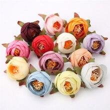 5/10 pçs 4cm chá de seda rosa bud cabeças de flores artificiais para casa decora diy grinalda caixa de presente scrapbooking artesanato flores falsas