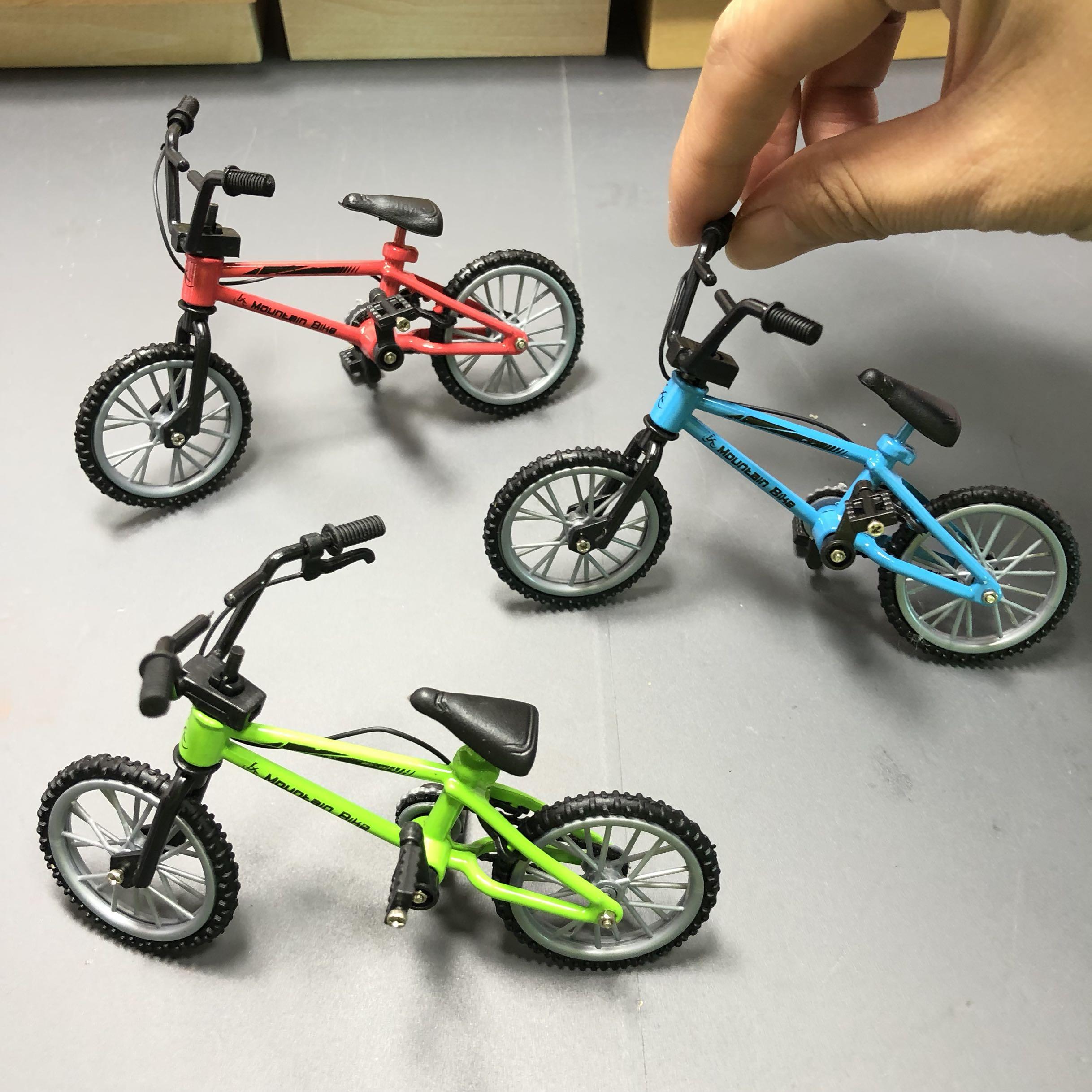 Creative Model Simulation Mini Alloy Bike Cake Decoration 1:18 Finger Bike Model Mountain Bike