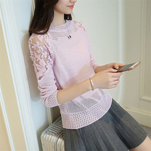 High quality sweater,Korean-style Thin Loose-Fit Crew Neck Pullover Sweater Women's,Spring Sweater crew neck casual sweater dress