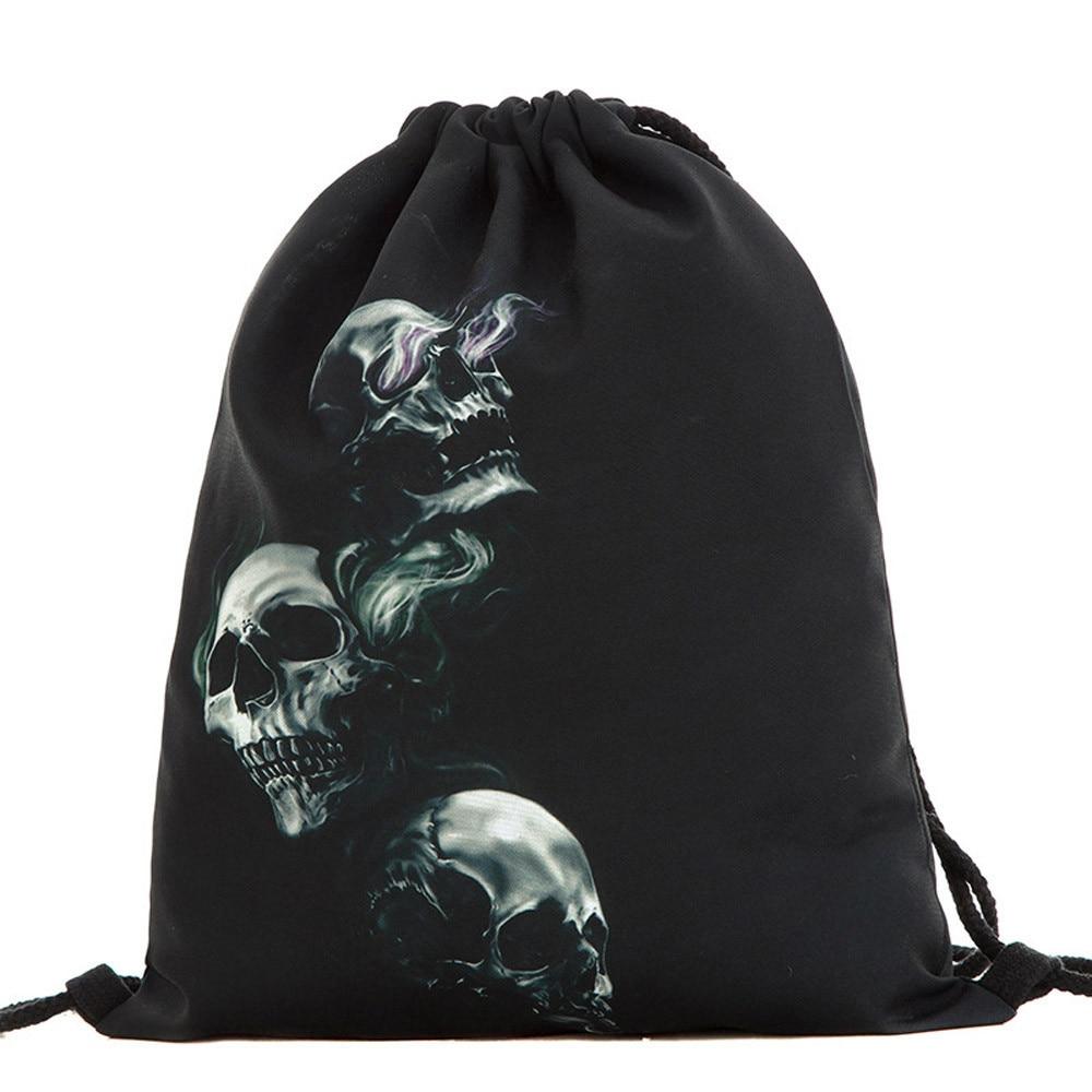 Halloween Fashion Bag Women Men Candy Gift Handbag Drawstring Backpacks Popular Comfortable Cool Soft Versatile Bags Boys Girls