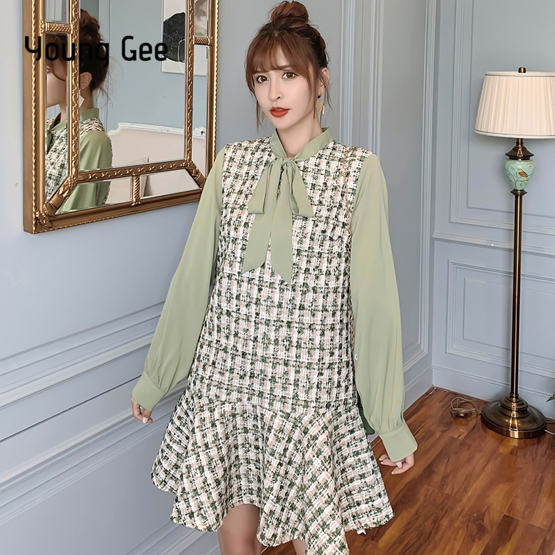 2019 Mini Shirt Dress Womens Autumn Spring Long Sleeve Ruffle Casual Ladies Tops