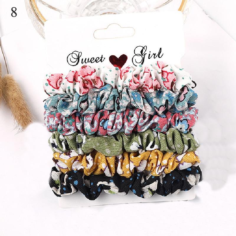 1 комплект резинки для волос кольцо для волос карамельного цвета Веревка для волос осень-зима женский хвостик аксессуары для волос 4-6 шт. ободки для девочек Подарки - Color: New 8