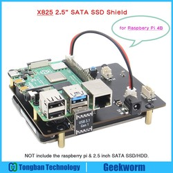 Raspberry Pi 4 Model B NAS 2.5 inch SATA HDD/SSD Storage Expansion Board