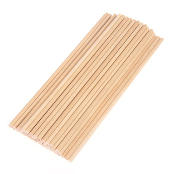50 Uds. Palillo de madera redondo Color madera Natural pastel Pasador para manualidades de comida DIY 10*0,5 cm/15*0,5 cm/20*0,5 cm palo de madera redondo
