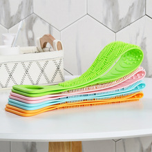 Silicone Brushes Bath Towels Scrubber Bath Body Massage Shower Skin Clean Shower Brush Long Rubbing Back Mud Peeling Towel comfortable bath long crystal handle bath brush comfort back scrubber big size shower useful cuozao towel