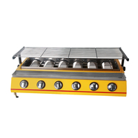 6/8 burners Stainless Steel Barbecue Infrared Grill Broiling Food Toaster Heat resistant Glass Outdoor Desktop Roast Vegetable