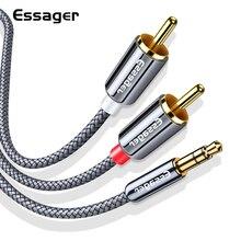 Essager Cavo RCA 3.5 millimetri Martinetti a 2 RCA Aux Cavo da 3.5mm a 2RCA Adattatore Splitter Audio Cavo per TV Box Home Theater Altoparlante Filo