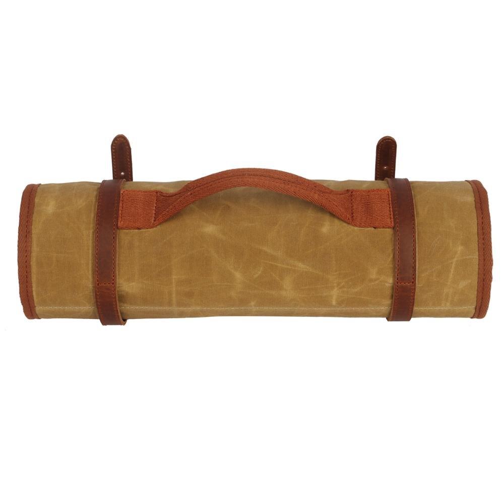 esteira velo acolchoado tiro cuidado kit caqui almofada lona 02
