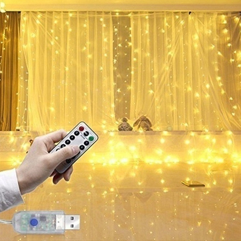 Christmas Decoration LED Window Curtain String Light Wedding Party Home Garden Bedroom Outdoor Indoor Wall Decorations