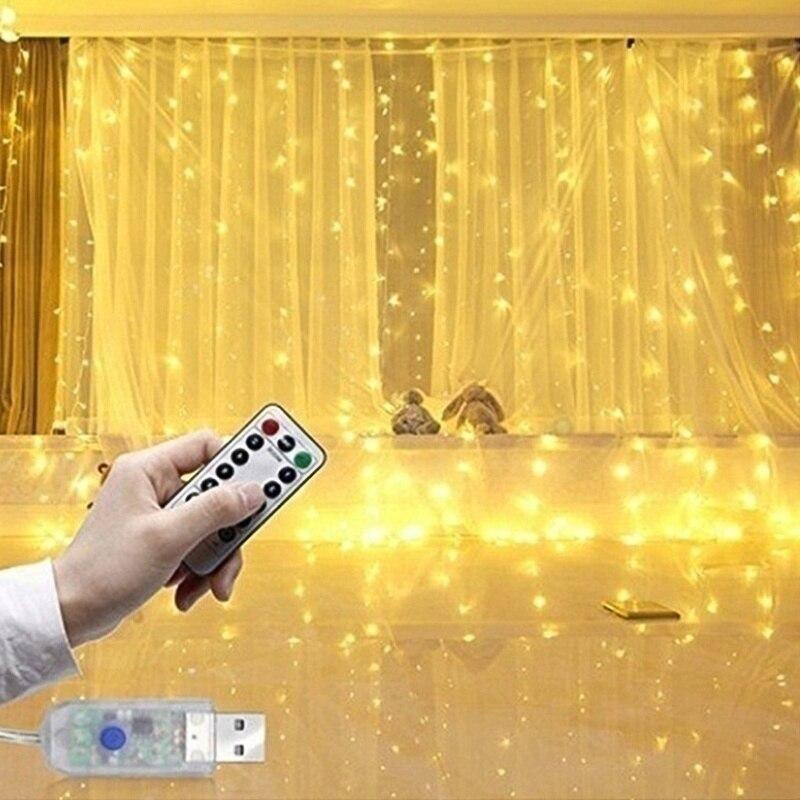 Luces de Navidad Luces de cuerda 100 modos LED Enchufe Luces de cadena de interior 220V Luces de hadas impermeables Hogar Jard/ín Fiesta Boda /Árbol de Navidad Decoraci/ón de cortina de ventana,