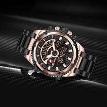 KADEMAN Watch Men Multi-Function Top Brand Outdoor Sports Waterproof Steel Strap relogio masculino Quartz
