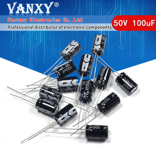 50 Stuks Higt Kwaliteit 50V100UF 8*12Mm 100Uf 50V 8*12 Elektrolytische Condensator