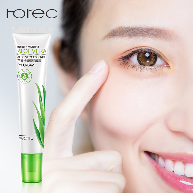 ROREC Moisurizing Aloe Vera Eye Serum Remove Dark Circles Puffiness Bags Collagen Anti Wrinkles Most Effective Eye Cream Care