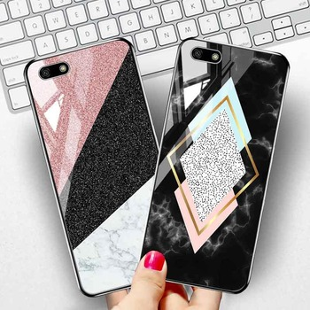 Tempered Glass Case For Huawei Y9 Prime 2019 2018 Y7 Y6 Y5 Cases Marble Bumper For Huawei P30 P20 Lite Pro Honor 7A 7C Pro Cover case on honor 7a 5 45 back galss case for huawei y5 2018 customized photo glass case for y5 prime y5 lite 2018 covers honor 7a