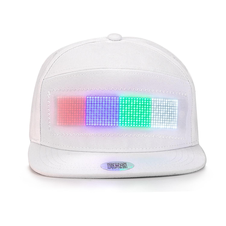 Novidade animado bluetooth led hat display board
