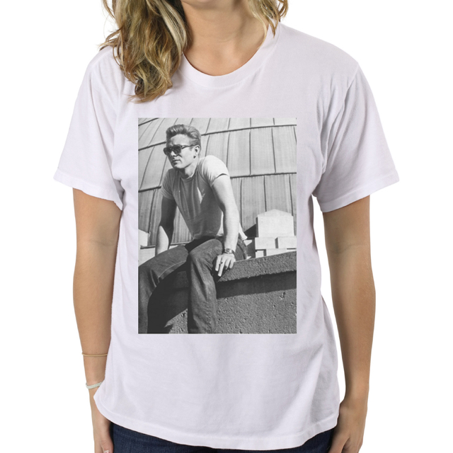 """T-Shirt /"""" James Dean /"""" Film Vintage White the Happiness Is Have My T-Shirt New"""