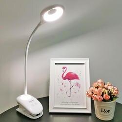 Клип светодиодный настольная лампа Перезаряжаемые гибкий светодиодный настольный лампа, Ночник свет сенсорный выключатель защита глаз