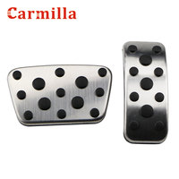 Carmilla 2Pcs AT 자동차 페달 보호 커버 Toyota Camry Highlander Land Cruiser Fortuner for Lexus ES RX CT200H IS LS LX