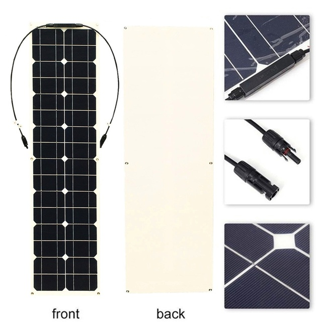 400W 2x 200W Solar Panel Mono Solar Battery Charger with 5V/12V/24V Controller for Car Yacht Battery Boat RV 5