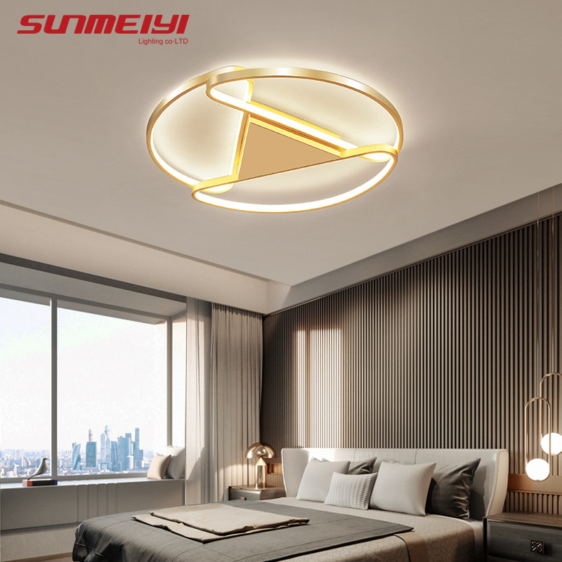 Luxury Led Ceiling Lights Minimalist Gold Industrial Ceiling Lamp Round Dimmable Modern Living room Kitchen Light plafondlamp