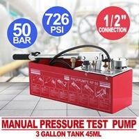 12l bomba de teste de pressão manual hidráulica 1/2 conexão Rp-50 válvulas duplas