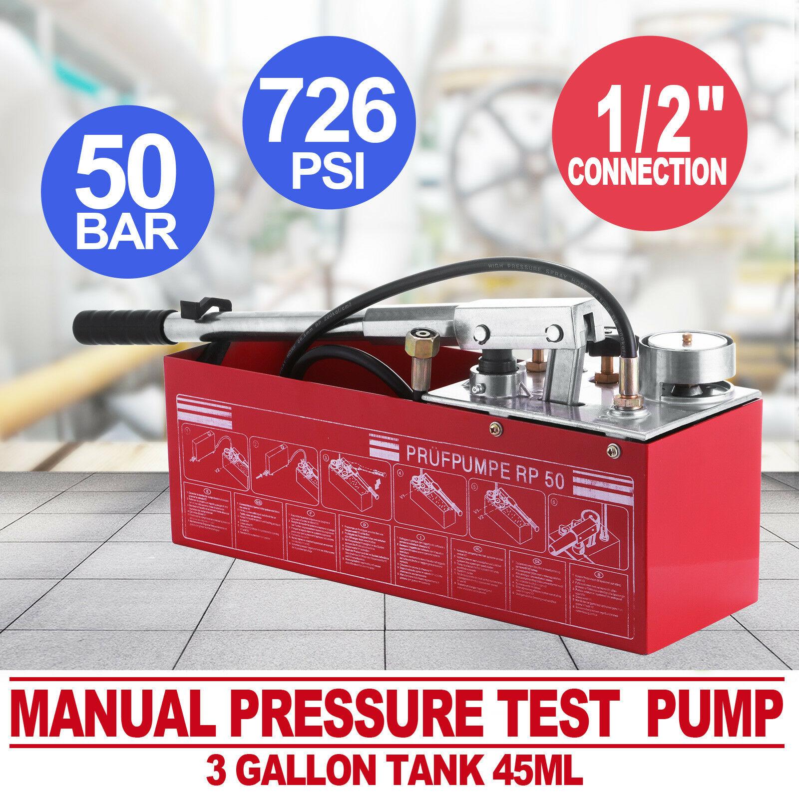 Plumbers Test Pump 12L 5000kpa / Rothenberg Ridgid Quality Testing Bucket