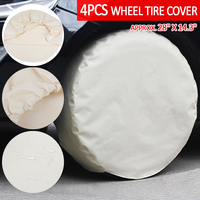4pcs RV Wheel Tire Covers Auto Car Truck Camper Trailer Auto Tyre Accessory Vehicle Wheel Protector for 28 inch Tire MAYITR