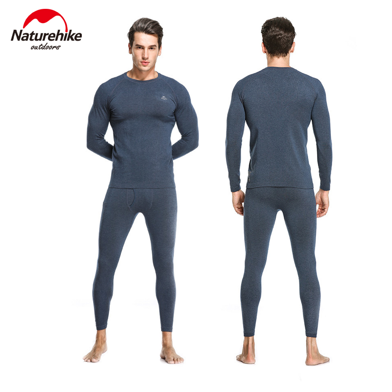 Naturehike HeatMax Thermal Underwear Man And Woman Self-heating Winter Fitness Ski Sport Function Thermal Underwear Office Work