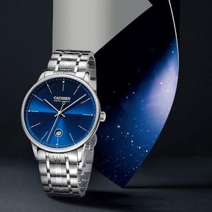 Image 3 - CADISEN reloj mecánico automático para hombre, reloj de pulsera militar, resistente al agua, de acero inoxidable, Masculino