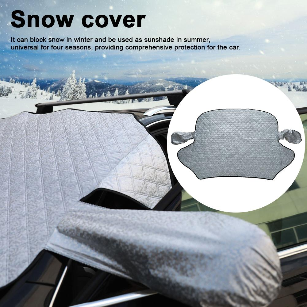 Magnetic Snow Cover Car Exterior Protection Car Covers Snow Rain Frost Ice Protector Visor Sun Shade Front Windshield Cover