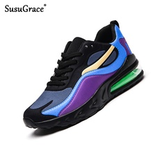 SusuGrace Men's Sneakers Breathable Mesh Anti-Odor Shoes Com