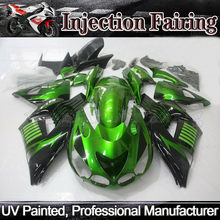 New Green Fairing Set Injection for 2006-2011 Kawasaki ZX-14R ZZ1400 ZX 14R ABS aftermarket free shipping motorcycle parts chain guards cover for kawasaki 2006 20072008 zx zx 14 zx 14r black