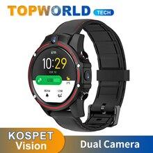 Kospet visão smartwatch 4g lte 3gb + 32gb câmera dupla bluetooth android 7.1 gps wifi cartão sim relógio inteligente das mulheres dos homens