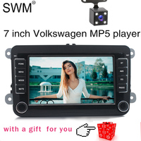 7 2 Din Car Radio for VW Volkswagen Golf 5 7 Auto Radio Stereo MirrorLink Reversing Camera Autoradio Radio Coche Bluetooth FM
