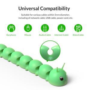Image 3 - Orico Kabel Organizer Management Voor Mobiele Telefoon Kabel Oortelefoon Usb Opladen Kabelhaspel Beheer Muis Draad Houder Clips