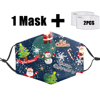 Christmas Carnival Night 3D Mask Face Reusable Filter Pm2.5 Adult Mouth-Muffle Mask Anti Dust Bacteria Proof Flu Fashion Masks