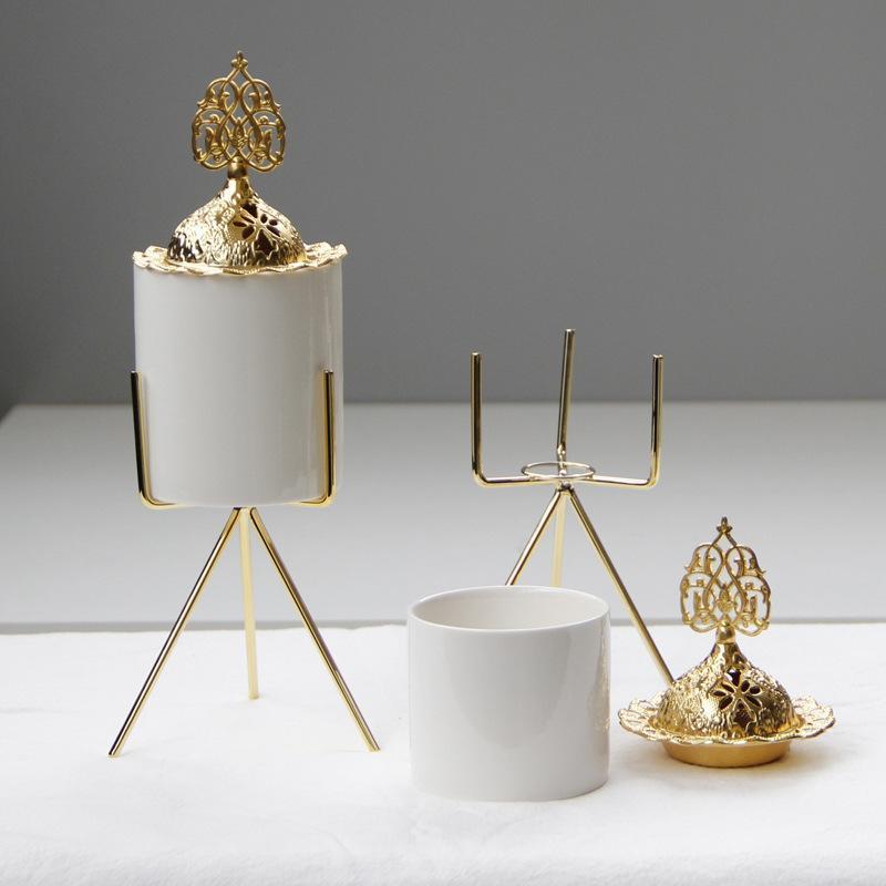 Nordic cerâmica queimador de incenso eid chapeamento