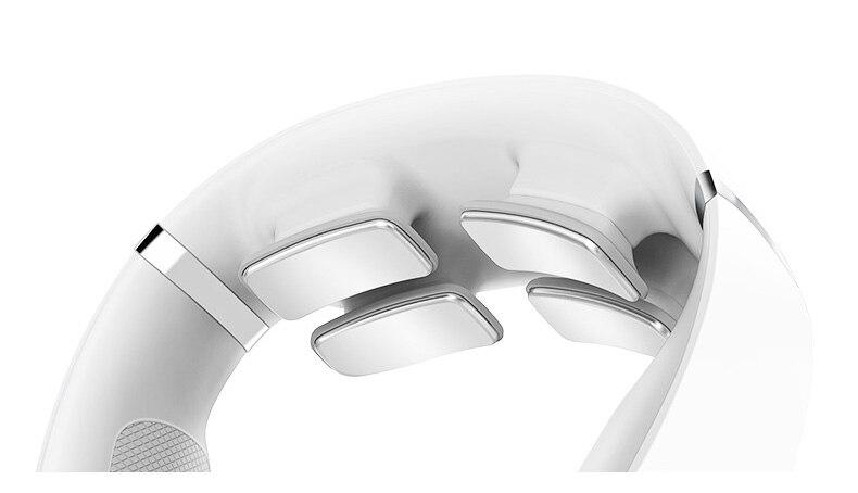 4 cabeça vibrador aquecimento massagem cervical cuidados de saúde