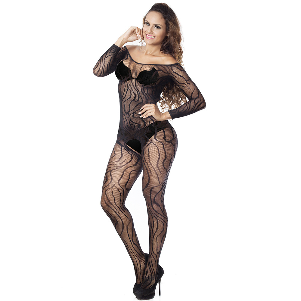 Sexy Open Crotch Full Body Stockings Erotic Perspective Fishnet Bodysuit Crotchless <font><b>Adult</b></font> <font><b>Sex</b></font> <font><b>Lingerie</b></font> Female Porn Underwear image